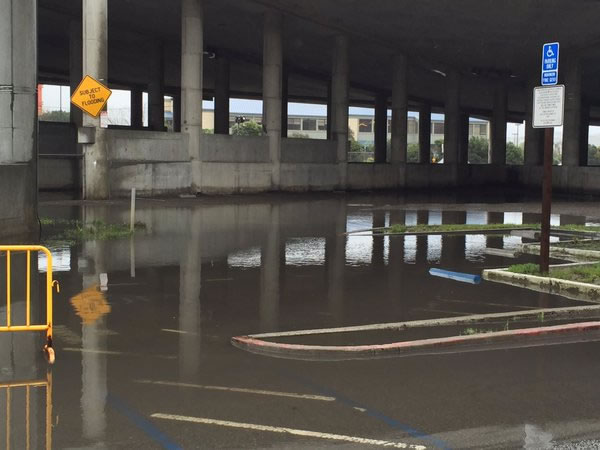 <div class='meta'><div class='origin-logo' data-origin='none'></div><span class='caption-text' data-credit='KGO-TV/ Elissa Harrington'>Parts of the Manzanita Park and Ride were already flooded Saturday morning before the heavy rains hit the Bay Area March 5, 2016.</span></div>