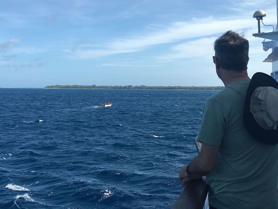 "<div class=""meta image-caption""><div class=""origin-logo origin-image none""><span>none</span></div><span class=""caption-text"">This image taken in March 2016 shows Exploratorium workers on a skiff leaving for the remote island of Woleai, a tiny atoll in Micronesia. (The Exploratorium)</span></div>"
