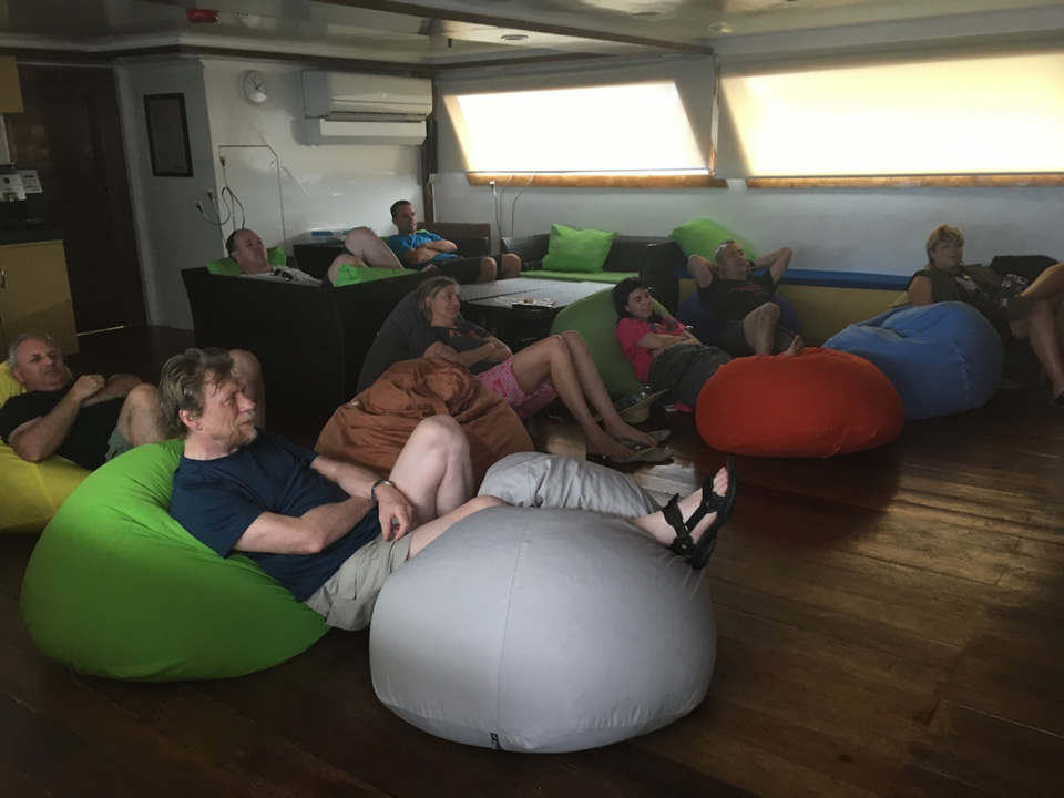 "<div class=""meta image-caption""><div class=""origin-logo origin-image none""><span>none</span></div><span class=""caption-text"">This image taken in March 2016 shows Exploratorium workers watching ""Jaws"" while on a boat heading to the remote island of Woleai, a tiny atoll in Micronesia. (The Exploratorium)</span></div>"