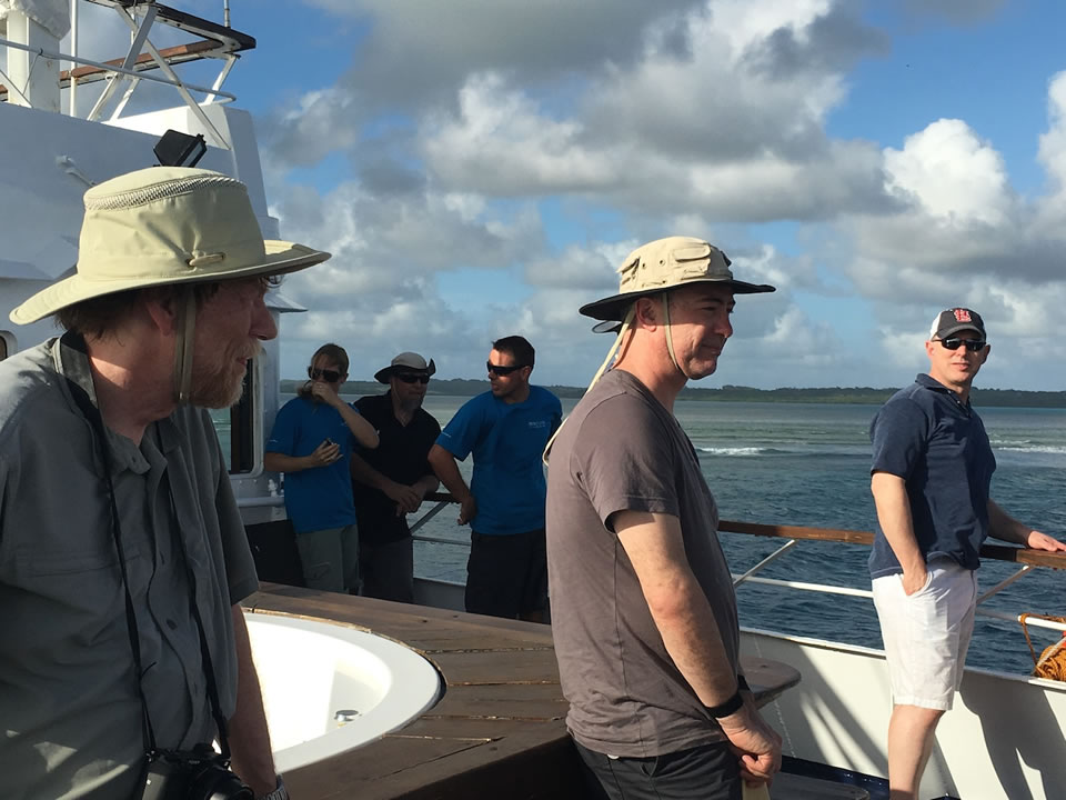 "<div class=""meta image-caption""><div class=""origin-logo origin-image none""><span>none</span></div><span class=""caption-text"">This image taken in March 2016 shows Exploratorium workers on their way to the remote island of Woleai, a tiny atoll in Micronesia. (The Exploratorium)</span></div>"