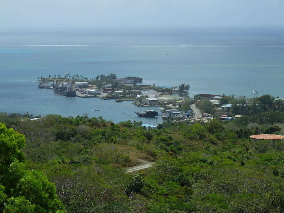 "<div class=""meta image-caption""><div class=""origin-logo origin-image none""><span>none</span></div><span class=""caption-text"">This image taken in March 2016 shows the view of Colonia from a nearby summit on the remote island of Woleai, a tiny atoll in Micronesia. (The Exploratorium)</span></div>"