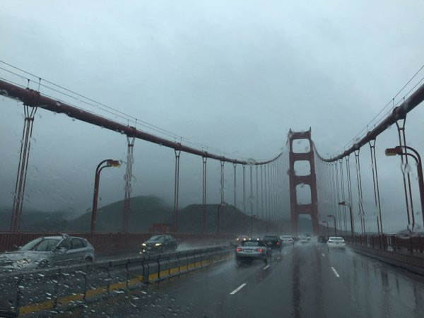 <div class='meta'><div class='origin-logo' data-origin='none'></div><span class='caption-text' data-credit='KGO-TV/ Katie Marzullo'>This image shows the rainy commute along Golden Gate Bridge March 10, 2016.</span></div>