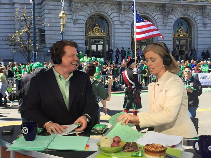 <div class='meta'><div class='origin-logo' data-origin='none'></div><span class='caption-text' data-credit='Richard Epting/KGO-TV'>7 On Your Side's Michael Finney is seen during the St. Patrick's Day Parade in San Francisco on Saturday March 11, 2017.</span></div>