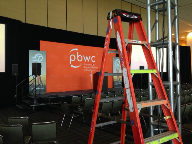 <div class='meta'><div class='origin-logo' data-origin='none'></div><span class='caption-text' data-credit='KGO-TV'>Here's a behind-the-scenes look at setup for the Professional BusinessWomen of California Conference in San Francisco on Monday, March 21, 2016.</span></div>