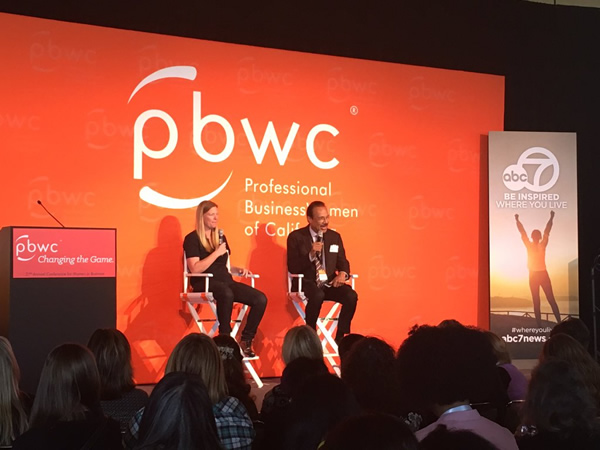 <div class='meta'><div class='origin-logo' data-origin='none'></div><span class='caption-text' data-credit='KGO-TV'>Spencer Christian is honored to interview Justine Siegal, the first woman coach for a Major League Baseball team, at PBWC in San Francisco.</span></div>