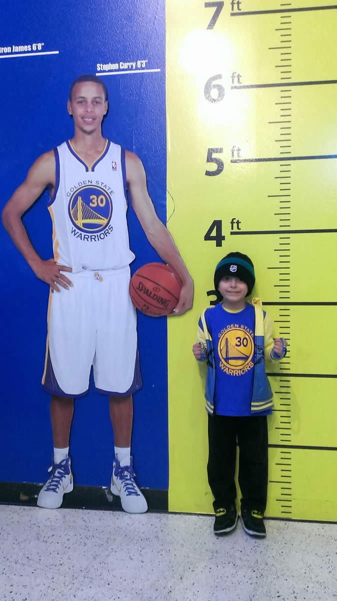 <div class='meta'><div class='origin-logo' data-origin='none'></div><span class='caption-text' data-credit='Photo submitted by Cesar/uReport'>This little Golden State Warriors fan was excited to attend his first game. Send your fan photos to uReport@kgo-tv.com!</span></div>