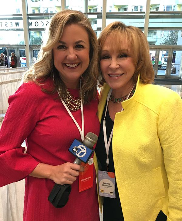 <div class='meta'><div class='origin-logo' data-origin='none'></div><span class='caption-text' data-credit='KGO-TV'>ABC7?s Amy Hollyfield (left) and (right) Cheryl Jennings at the Professional BusinessWomen of California Conference  in San Francisco on March, 28, 2017.</span></div>