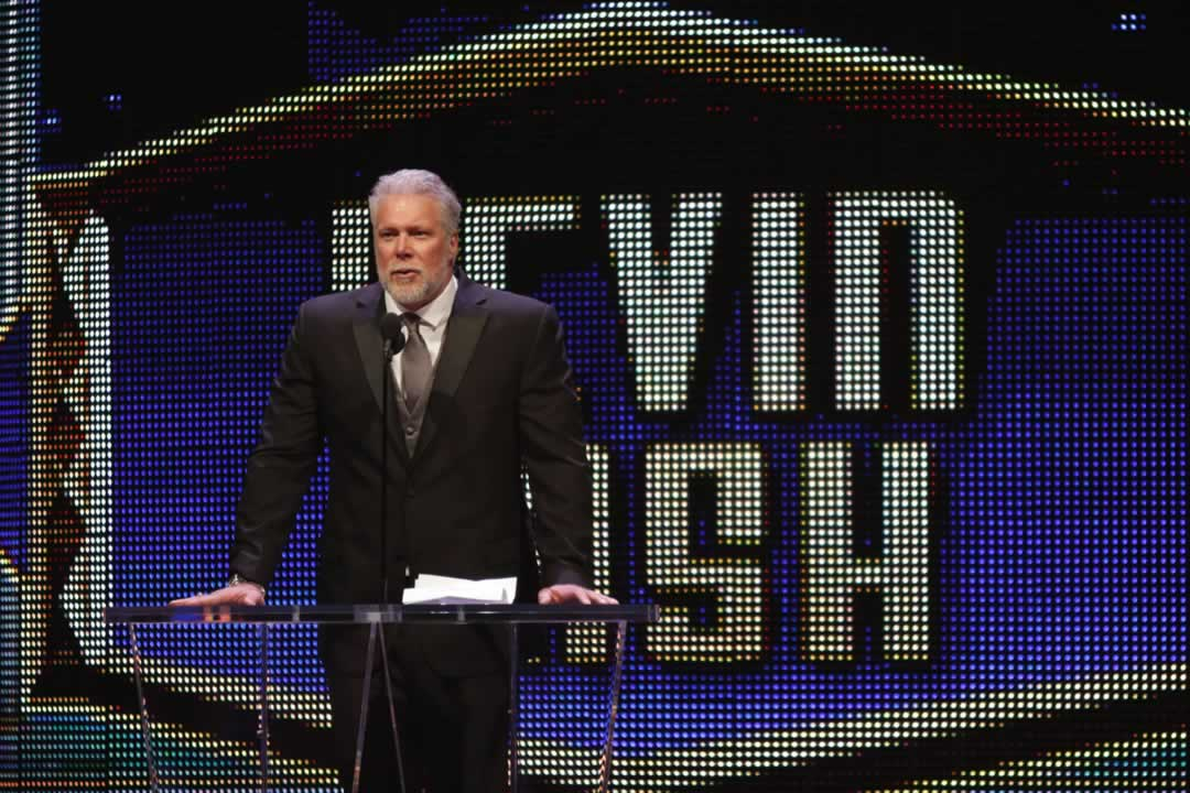 """<div class=""""meta image-caption""""><div class=""""origin-logo origin-image none""""><span>none</span></div><span class=""""caption-text"""">Kevin Nash gives his acceptance speech at the WWE Hall of Fame Ceremony, on Saturday, March 28, 2015 in San Jose, Calif.  (Don Feria/AP Images for WWE)</span></div>"""