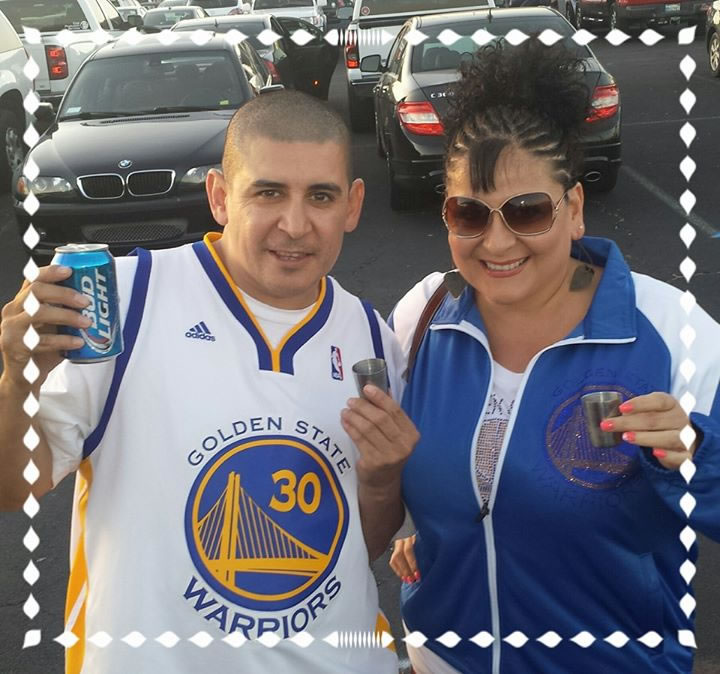<div class='meta'><div class='origin-logo' data-origin='none'></div><span class='caption-text' data-credit='Photo submitted by Yvonne Vasquez/Facebook'>Golden State Warriors fan Yvonne Vasquez captured this photo. Send your fan photos to uReport@kgo-tv.com!</span></div>
