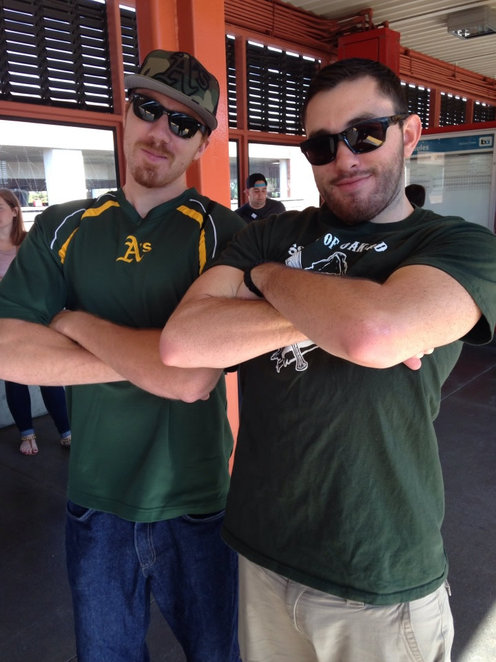 """<div class=""""meta image-caption""""><div class=""""origin-logo origin-image none""""><span>none</span></div><span class=""""caption-text"""">Let's go A's!  Send in your Oakland Athletics pride photos to ABC7 News and we may share them on TV! (Photo submitted to KGO-TV by Judy G./Facebook)</span></div>"""