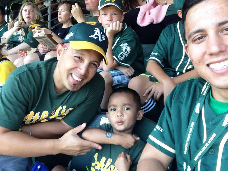"""<div class=""""meta image-caption""""><div class=""""origin-logo origin-image none""""><span>none</span></div><span class=""""caption-text"""">Let's go A's!  Send in your Oakland Athletics pride photos to ABC7 News and we may share them on TV! (Photo submitted by Arlyn D./KGO-TV uReport)</span></div>"""