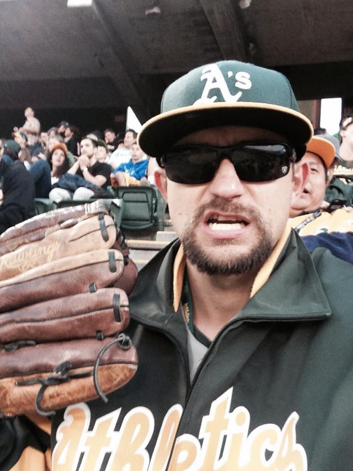 """<div class=""""meta image-caption""""><div class=""""origin-logo origin-image none""""><span>none</span></div><span class=""""caption-text"""">Let's go A's!  Send in your Oakland Athletics pride photos to ABC7 News and we may share them on TV! (Photo submitted to KGO-TV by Orland M./Facebook)</span></div>"""