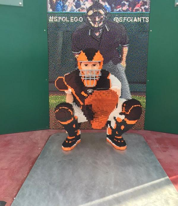 <div class='meta'><div class='origin-logo' data-origin='none'></div><span class='caption-text' data-credit='KGO-TV'>This image shows a Leggo statue of San Francisco Giants catcher Buster Posey April, 7, 2016 at AT&T Park in San Francisco.</span></div>