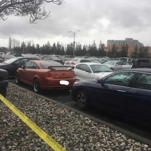 <div class='meta'><div class='origin-logo' data-origin='none'></div><span class='caption-text' data-credit='Photo by TeslaParkingLot/Instagram'>This unfortunate parking situation in the Tesla employee parking lot in Fremont, Calif. was captured and posted to Instagram on Jan. 4, 2017.</span></div>