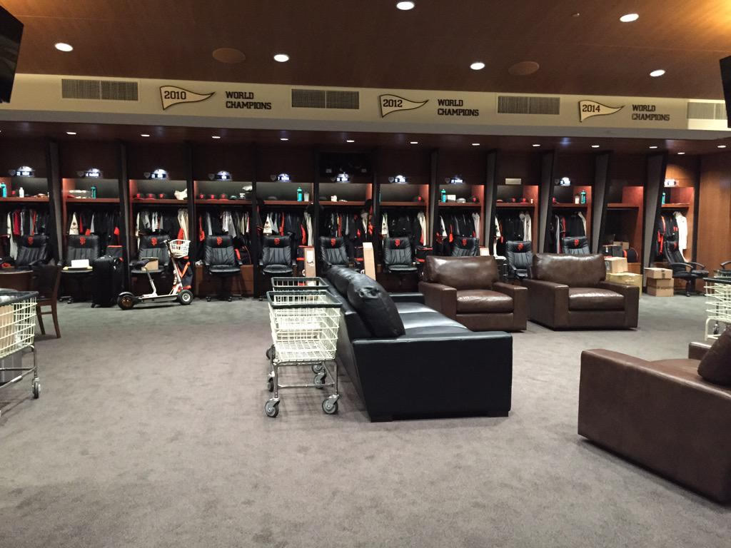"<div class=""meta image-caption""><div class=""origin-logo origin-image none""><span>none</span></div><span class=""caption-text"">It's opening day at AT&T Park!  This is the remodeled club house where players suit up! SF Giants celebrate last year's world championship with with fans on Monday, April 13, 2015. (KGO-TV/Janet O)</span></div>"