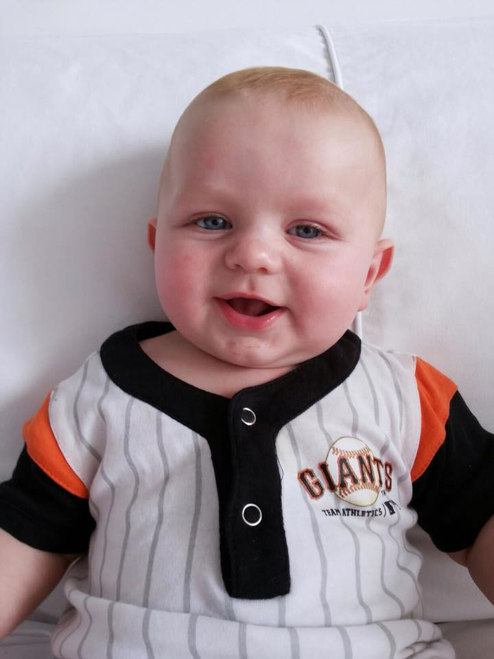 "<div class=""meta image-caption""><div class=""origin-logo origin-image none""><span>none</span></div><span class=""caption-text"">Let's play ball - it's opening day at AT&T Park! ABC7 News viewer Cassie Vernon sent in this image of a tiny Giants fan, April 13, 2015. (Cassie Vernon via Facebook )</span></div>"