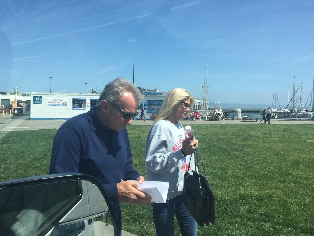 "<div class=""meta image-caption""><div class=""origin-logo origin-image none""><span>none</span></div><span class=""caption-text"">It's opening day at AT&T Park!  49ers great Joe Montana and his wife were headed to the Giants game Monday, April 13, 2015. (KGO-TV/Lyanne Melendez )</span></div>"