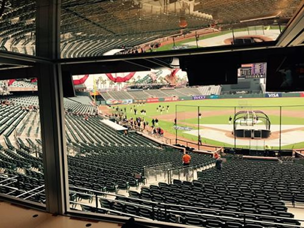 "<div class=""meta image-caption""><div class=""origin-logo origin-image none""><span>none</span></div><span class=""caption-text"">It's opening day at AT&T Park!  This is the park hours before game time. SF Giants celebrate last year's world championship with with fans on Monday, April 13, 2015. (KGO-TV/Mike Shumann)</span></div>"