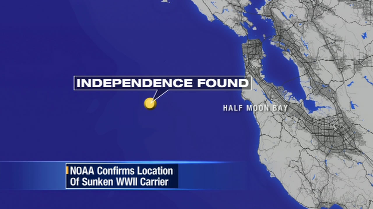 NOAA Confirms Location Of Sunken WWII Carrier Near Coast Of Half - Location of us aircraft carriers map