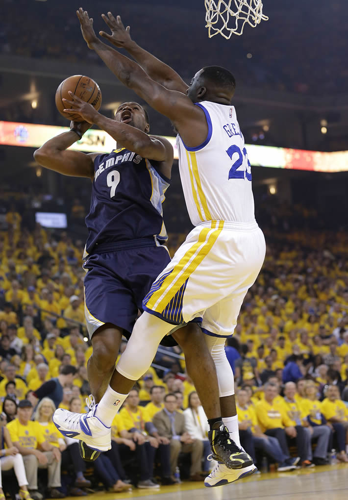 <div class='meta'><div class='origin-logo' data-origin='none'></div><span class='caption-text' data-credit='AP Photo/Marcio Jose Sanchez'>Memphis Grizzlies forward Tony Allen shoots against Golden State Warriors forward Draymond Green during a second-round NBA playoff series in Oakland, Calif., May 3, 2015.</span></div>