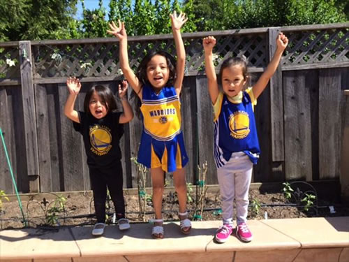 <div class='meta'><div class='origin-logo' data-origin='none'></div><span class='caption-text' data-credit='Photo submitted via uReport'>Some of the Warriors biggest little fans! Tag your photos on Facebook, Twitter, Google Plus, or Instagram using #DubsOn7!</span></div>