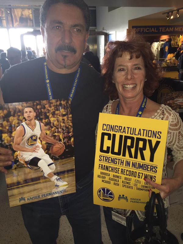 <div class='meta'><div class='origin-logo' data-origin='none'></div><span class='caption-text' data-credit='KGO-TV'>Everyone at the Warriors game on Tuesday, May 5, 2015 got a free Stephen Curry MVP poster! Tag your photos on Facebook, Twitter, Google Plus, or Instagram using #DubsOn7!</span></div>