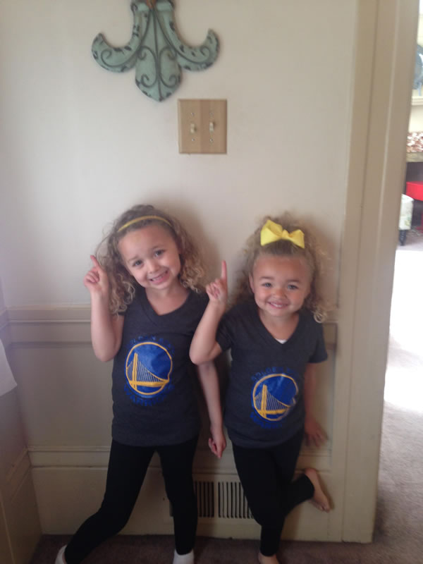<div class='meta'><div class='origin-logo' data-origin='none'></div><span class='caption-text' data-credit='Photo submitted via uReport'>Alyssa and Aliyah are big Warriors fans! Tag your photos on Facebook, Twitter, Google Plus, or Instagram using #DubsOn7!</span></div>