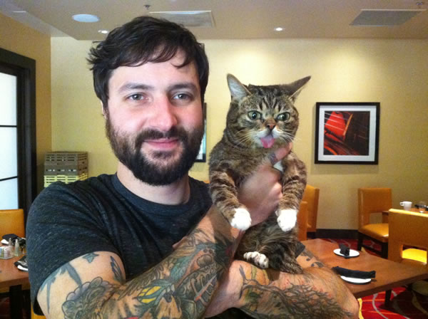 "<div class=""meta image-caption""><div class=""origin-logo origin-image ""><span></span></div><span class=""caption-text"">Meet Lil Bub and her human Mike Bridavsky.</span></div>"