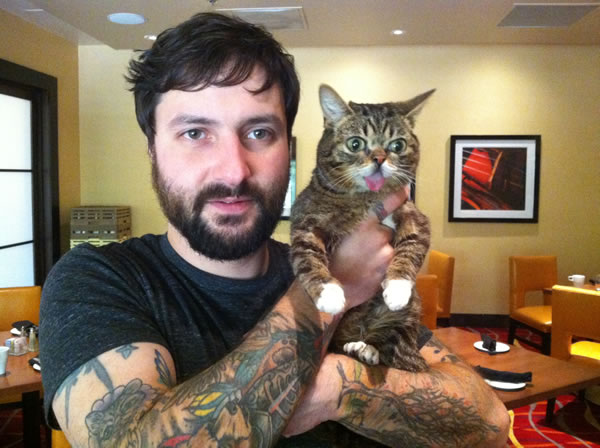 Meet Lil Bub and her human Mike Bridavsky.