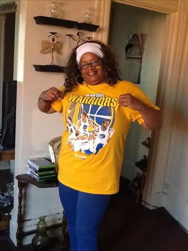 <div class='meta'><div class='origin-logo' data-origin='none'></div><span class='caption-text' data-credit='Photo submitted by via uReport'>Warriors fan showing off team pride! Tag your photos on Facebook, Twitter, Google Plus, or Instagram using #DubsOn7!</span></div>