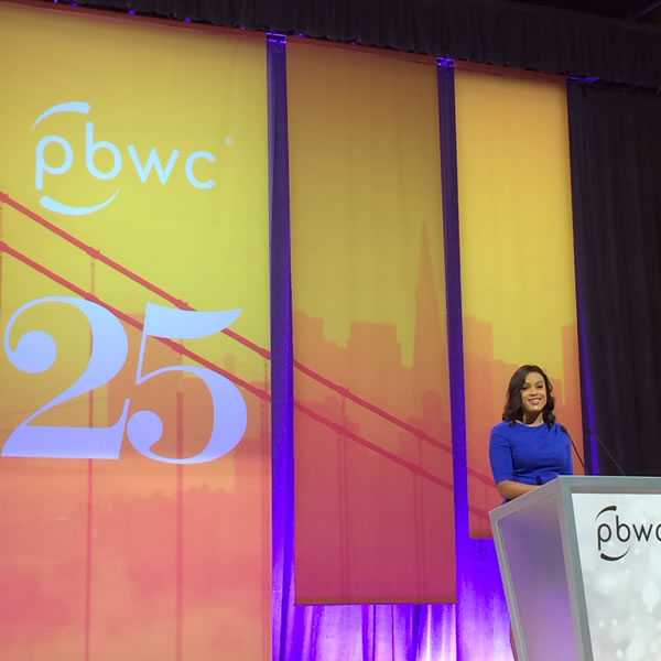 ABC7 News anchor Ama Daetz on stage at the PBWC. <span class=meta>KGO</span>