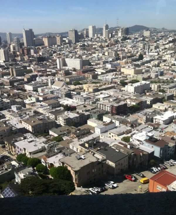 Even the elevator that takes you to the top of Coit Tower for this million dollar view has been renovated. <span class=meta>(Carolyn Tyler)</span>