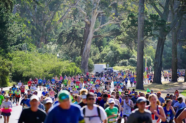 <div class='meta'><div class='origin-logo' data-origin='none'></div><span class='caption-text' data-credit='Photo submitted to KGO-TV by @gcmak/Instagram'>Runners are seen taking part in the 105th annual Bay to Breakers race in San Francisco, Calif. on Sunday, May 15, 2016.</span></div>