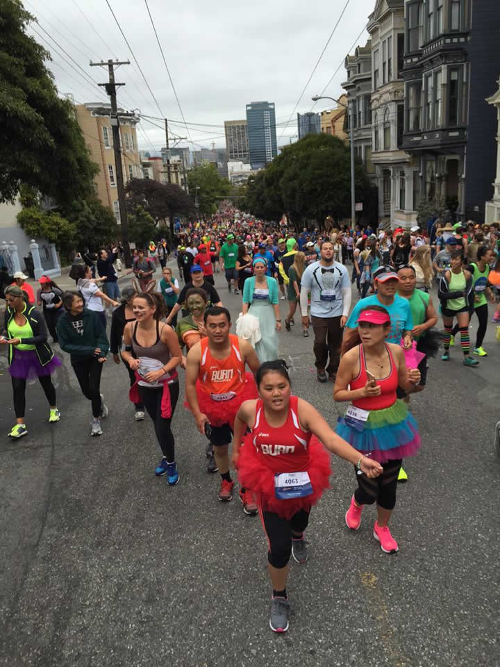 <div class='meta'><div class='origin-logo' data-origin='none'></div><span class='caption-text' data-credit='Photo submitted to KGO-TV by Paul H./Twitter'>Thousands of runners participate in San Francisco's annual Bay to Breakers Race on May 17, 2015.</span></div>