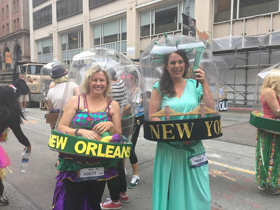 <div class='meta'><div class='origin-logo' data-origin='none'></div><span class='caption-text' data-credit='KGO-TV/Katie Utehs'>ABC7 News reporter Katie Utehs caught these fun snowglobe costumes at San Francisco's annual Bay to Breakers Race on May 17, 2015.</span></div>