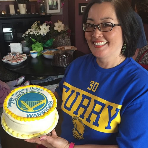 <div class='meta'><div class='origin-logo' data-origin='none'></div><span class='caption-text' data-credit='Photo submitted to KGO-TV by debbiesanwal/Instagram'>Warriors fan Debbie is showing off her amazing Dubs birthday cake! Tag your photos on Facebook, Twitter, Google Plus, or Instagram using #DubsOn7.</span></div>