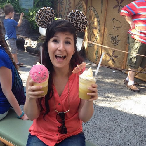 <div class='meta'><div class='origin-logo' data-origin='none'></div><span class='caption-text' data-credit='Photo submitted to KGO-TV by shleaz/Instagram'>This is the only way to Dole Whip at Disneyland. ABC7 News viewers and staff are celebrating Disneyland's 60 years of magic by sharing photos of themselves at the park.</span></div>