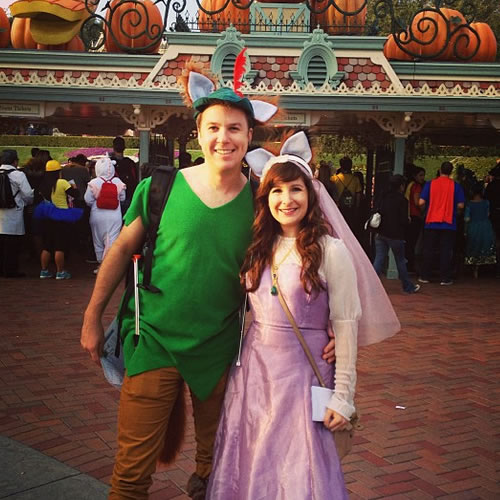 <div class='meta'><div class='origin-logo' data-origin='none'></div><span class='caption-text' data-credit='Photo submitted to KGO-TV by shleaz/Instagram'>These are fantastic Robin Hood and Maid Marian costumes! ABC7 News viewers and staff are celebrating Disneyland's 60 years of magic by sharing photos of themselves at the park.</span></div>