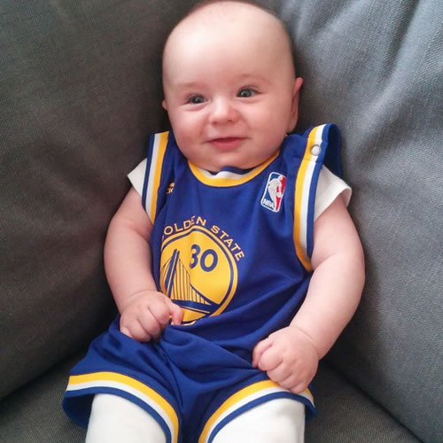 <div class='meta'><div class='origin-logo' data-origin='none'></div><span class='caption-text' data-credit='Photo submitted to KGO-TV by Brett M/Instagram'>This baby is ready for the Warriors game! Tag your photos on Facebook, Twitter, Google Plus or Instagram using #DubsOn7.</span></div>