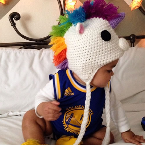 <div class='meta'><div class='origin-logo' data-origin='none'></div><span class='caption-text' data-credit='Photo submitted to KGO-TV by Daisy R/Instagram'>This little unicorn is bringing the Warriors luck. Tag your photos on Facebook, Twitter, Google Plus or Instagram using #DubsOn7.</span></div>