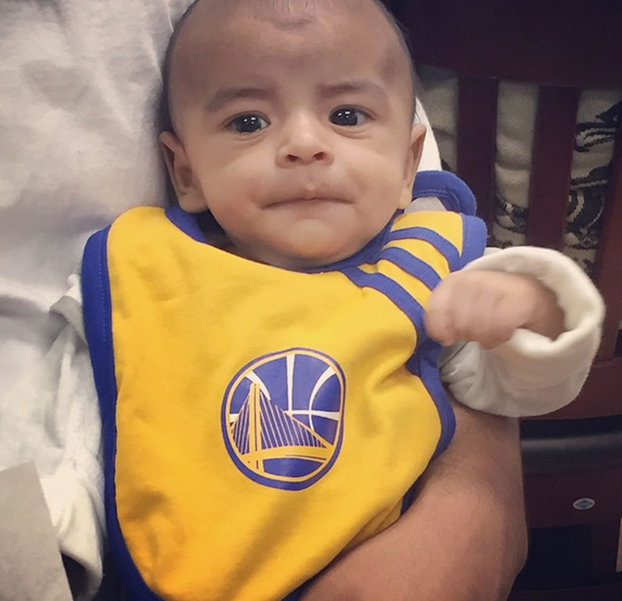 <div class='meta'><div class='origin-logo' data-origin='none'></div><span class='caption-text' data-credit=''>Never too little to root for the Warriors! Tag your photos on Facebook, Twitter, Google Plus or Instagram using #DubsOn7.Photo sent to KGO-TV by jcq_montano/ Instagram</span></div>
