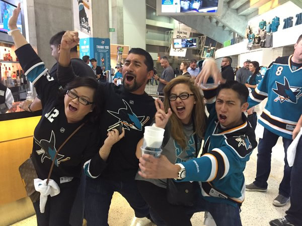 <div class='meta'><div class='origin-logo' data-origin='none'></div><span class='caption-text' data-credit='KGO-TV'>San Jose Sharks fans in San Jose, Calif., after Game 6 against the St. Louis Blue on Wednesday, May 25, 2016.</span></div>