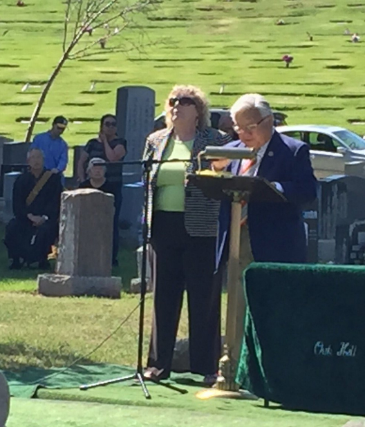 <div class='meta'><div class='origin-logo' data-origin='none'></div><span class='caption-text' data-credit='KGO-TV'>Japanese American Memorial Day service at Oak Hill Cemetery in San Jose, California, Monday, May 30, 2016.</span></div>