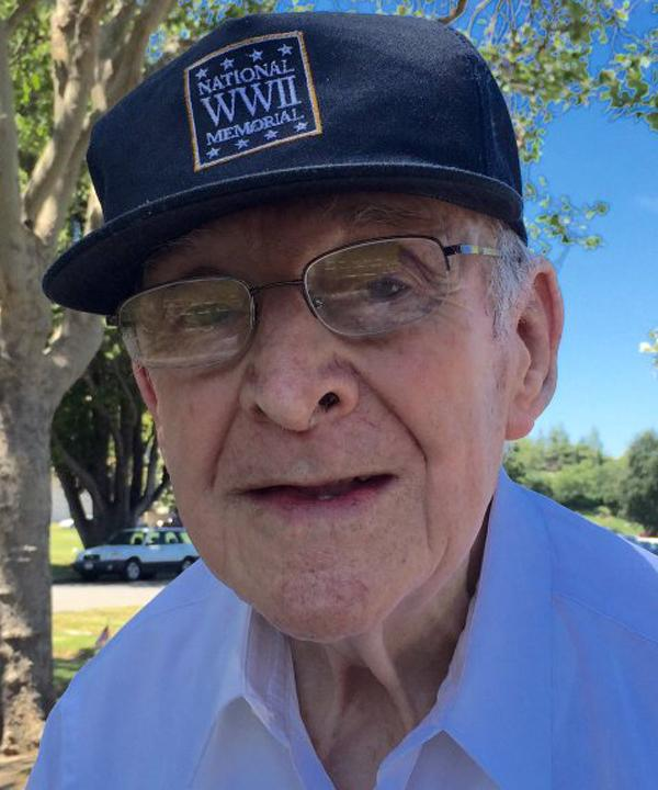 <div class='meta'><div class='origin-logo' data-origin='none'></div><span class='caption-text' data-credit='KGO-TV'>91-year-old WWII vet Art Gallegos played alto sax at the Memorial Day service in San Jose, Monday May 30, 2016.</span></div>