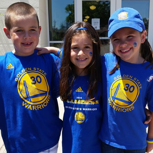 <div class='meta'><div class='origin-logo' data-origin='none'></div><span class='caption-text' data-credit='Photo submitted to KGO-TV by jess21909/Instagram'>Jordan, Aiden and Avery celebrated Warriors Day at school! Tag your photos on Facebook, Twitter, Google Plus or Instagram using #DubsOn7.</span></div>