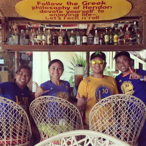<div class='meta'><div class='origin-logo' data-origin='none'></div><span class='caption-text' data-credit='Photo submitted to KGO-TV by shaerocs/Instagram'>These fans are reppin' the Golden State Warriors all the way from Boracay, Philippines. Tag your photos on Facebook, Twitter, Google Plus or Instagram using #DubsOn7.</span></div>