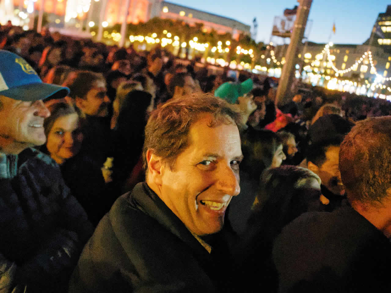 <div class='meta'><div class='origin-logo' data-origin='none'></div><span class='caption-text' data-credit='KGO-TV'>A man smiles during a music performance at Clusterfest in San Francisco, Calif. on June 1, 2018.</span></div>