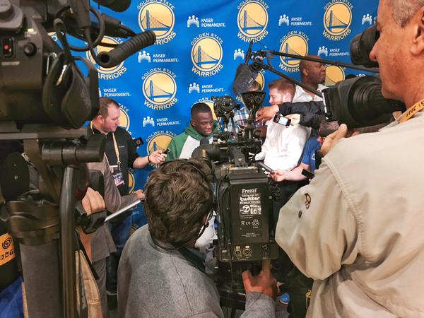 <div class='meta'><div class='origin-logo' data-origin='none'></div><span class='caption-text' data-credit='KGO-TV'>Getting to the NBA Playoff Finals early on Thursday, June 4, 2015 was necessary!</span></div>