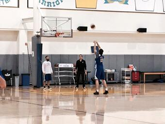 <div class='meta'><div class='origin-logo' data-origin='none'></div><span class='caption-text' data-credit='KGO-TV'>Golden State Warriors' Andrew Bogut takes some free-throws ahead of Game 1 of the NBA Playoff Finals on Thursday, June 4, 2015.</span></div>