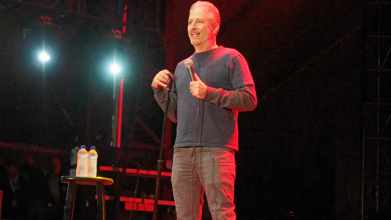 <div class='meta'><div class='origin-logo' data-origin='none'></div><span class='caption-text' data-credit='KGO-TV'>Jon Stewart is seen at Clusterfest in San Francisco on Sunday, June 5, 2018.</span></div>
